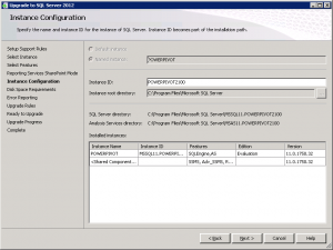 SQL Server 2012 Upgrade RC0 to RTM Instance Configuration