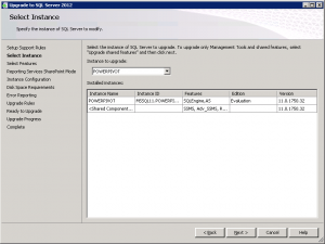 SQLServer2012 Upgrade RC0 to RTM Select POWERPIVOT Instance