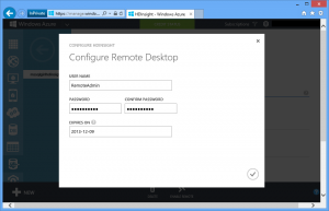 HDInsight: Configure Remote Desktop