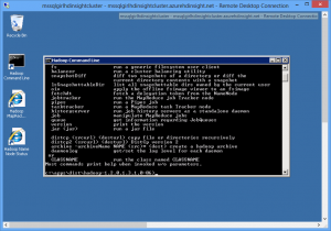 HDInsight: Hadoop command line